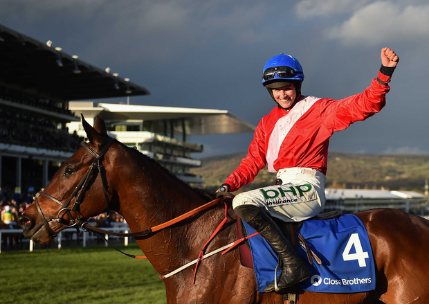 The 9/2 joint favourite was prominent throughout and once Blackmore sent him to the front on the approach to the second last, the issue was never in doubt. Photo by Seb Daly/Sportsfile