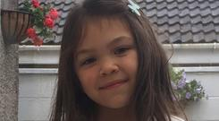 Emmy Sophia Eckert (5) who drowned in a lake in Germany