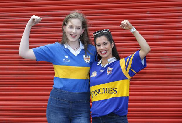 Tipp fans Emma O'Donovan and Treasa McGrath, from Nenagh. Photo: Damien Eagers / INM