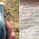 A message in a bottle found by Tyler Ivanoff (Tyler Ivanoff)