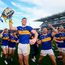 Up for the Cup: Tipp captain Seamus Callanan celebrates with his team-mates as they parade the Liam MacCarthy Cup around Croke Park yesterday. Photo: Sportsfile