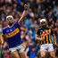 Niall O'Meara of Tipperary celebrates after scoring his side's first goal during the GAA Hurling All-Ireland Senior Championship Final match between Kilkenny and Tipperary at Croke Park in Dublin. Photo by Brendan Moran/Sportsfile