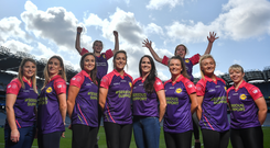 In attendance at the official launch of the Lidl #SeriousSupport Schools Programme at Croke Park in Dublin are footballers, from left, Lucy Hannon of Galway, Sinéad Burke of Galway, Louise Galvin of Kerry, Caroline O'Hanlon of Armagh, Katy Herron of Donegal, Elish Ward of Donegal, Carla Rowe of Dublin and Donna Berry of Kildare. Photo by David Fitzgerald/Sportsfile