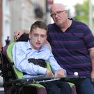 Ciaran Costello and Conor Dillon are campaigning to reverse cruel axing of training allowance for school leavers with disabilities Picture credit; Damien Eagers / INM