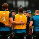 Laying down the law: Joe Schmidt has paid careful attention to World Cup preparations. The head coach has gone as far as keeping Kevin Pietersen away from Ireland's camp in Portugal, as the cricketer revealed on Twitter. Photo: Seb Daly/Sportsfile