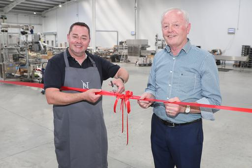 Seal of approval: Chef Neven Maguire and Pat Clarke at the opening of the new Clarke Fruits packing and storage facility
