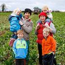 Rough patch: Patrick and Noreen Fitzgerald with their children Kate (4), Richard (6) Ellie (3) and Ryan (8)