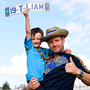 Happy: Tipp fans Gavin Lynch and son Gavin Jnr, from Roscrea, at the Tipperary homecoming in Semple Stadium in Thurles. Photos: Sam Barnes/Sportsfile
