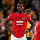 Manchester United are disgusted by racial abuse aimed at midfielder Paul Pogba in the wake of their draw with Wolves on Monday, the Premier League club have said in a statement. Photo: Nick Potts/PA Wire