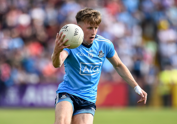 Seán Bugler made his debut for Dublin in the Super 8s against Tyrone. Photo by Oliver McVeigh/Sportsfile