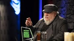 George R.R. Martin, author behind A Game of Thrones, has received The An Post International Recognition Award as part of this years An Post Irish Book Awards. Picture: Patrick Bolger