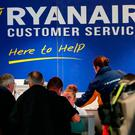 Ryanair flights due to take off tomorrow and Friday could be cancelled at the last minute due to the threat of a 48-hour strike by pilots. Photo: Niall Carson/PA