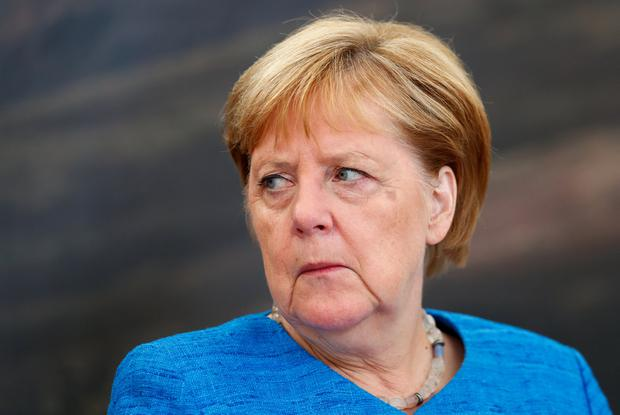 Steeled: German Chancellor Anglea Merkel Photo: REUTERS/Ints Kalnins