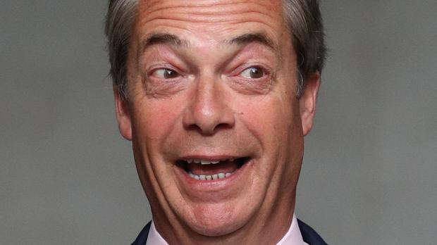 Nigel Farage is among the politicians who feature. (Jonathan Brady/PA)