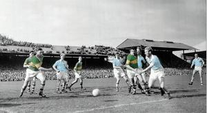 25 September 1955; A general view of action between Dublin and Kerry. All-Ireland Senior Football Championship Final, Dublin v Kerry. Croke Park, Dublin. Picture credit: Connolly Collection / SPORTSFILE