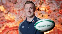 """Irish rugby player Dan Leavy pictured at Vodafone's """"Ireland's Ball"""" launch event in Ukiyo-e. Photo: Naoise Culhane"""