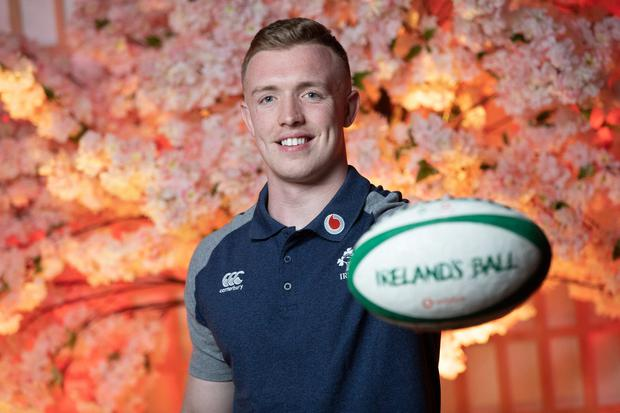 "Rugby Irish rugby player Dan Leavy pictured at Vodafone's ""Ireland's Ball"" launch event in Ukiyo-e. Photo: Naoise Culhane"