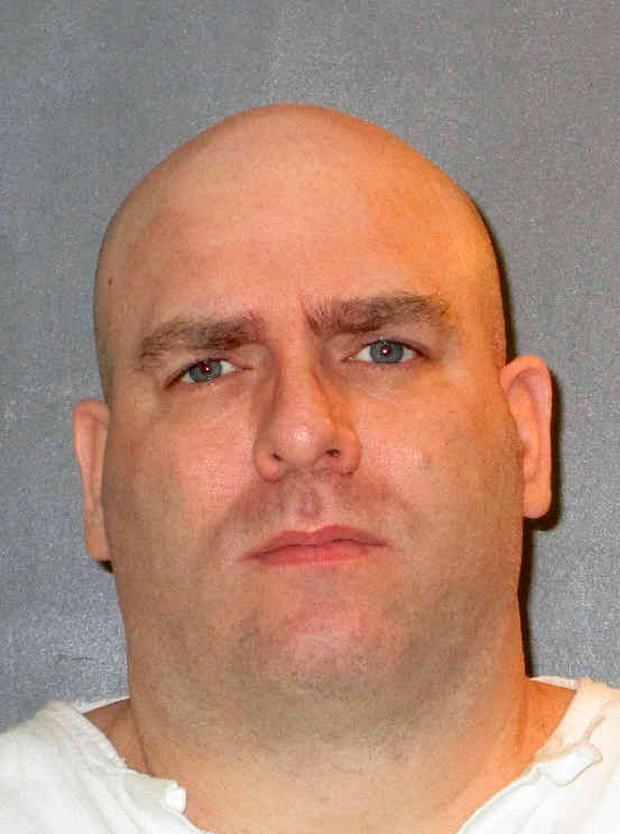 This undated photo provided by the Texas Department of Criminal Justice shows Larry Swearingen. Swearingen, a Texas death row inmate who has long maintained his innocence, is facing execution for the abduction, rape and murder of a suburban Houston community college student more than 20 years earlier. (Texas Department of Criminal Justice via AP)
