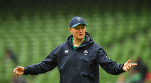 Ireland head coach Joe Schmidt during the Guinness Summer Series 2019 match between Ireland and Italy at the Aviva Stadium in Dublin. Photo by Seb Daly/Sportsfile