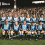 25 September 1977; The Dublin team, back row, left to right, Kevin Moran, Anton O'Toole, Seán Doherty, Jimmy Keaveney, Paddy Cullen, Tommy Drumm, John McCarthy, Bernard Brogan, Bobby Doyle. Front row, left to right, Brian Mullins, Pat O'Neill, Tony Hanahoe, David Hickey, Robbie Kelleher, Gay O'Driscoll. All Ireland GAA Senior Football Championship Final, Dublin v Armagh, Croke Park, Dublin. Picture credit: Connolly Collection / SPORTSFILE