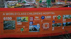Cost overrun: The site of the new National Children's Hospital Photo: Collins