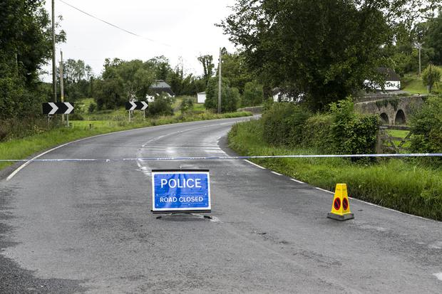 Real threat: A road Block at Gortinacarrow, Co Fermanagh, after a bomb exploded just inside the Northern Ireland Border earlier this week. There are heightened fears of renewed violence if a no-deal Brexit goes ahead. Picture: Kyran O'Brien