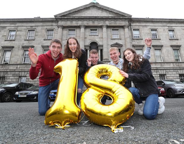 Conor, Amy, Cian, Rory and Dearbhail Cassidy at the Rotunda. Picture: Robbie Reynolds