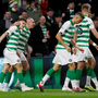UP THE BHOYS: Celtic's James Forrest celebrates scoring his side's first goal with Scott Brown. Photo: Reuters/Craig Brough