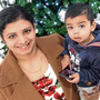 'Desperate': Anu Mathew with her husband and son