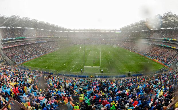 'We are all praying like mad for Kerry, who play the Dublin machine in the All-Ireland football final on Sunday week in our home ground of Croke Park, which happens to be in Dublin'. Photo: Stephen McCarthy/Sportsfile