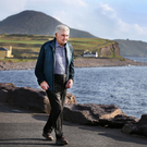 Micko the maestro: Kerry legend Mick O'Dwyer walks by the shores of the Atlantic near his home in Waterville. Photo: Steve Humphreys