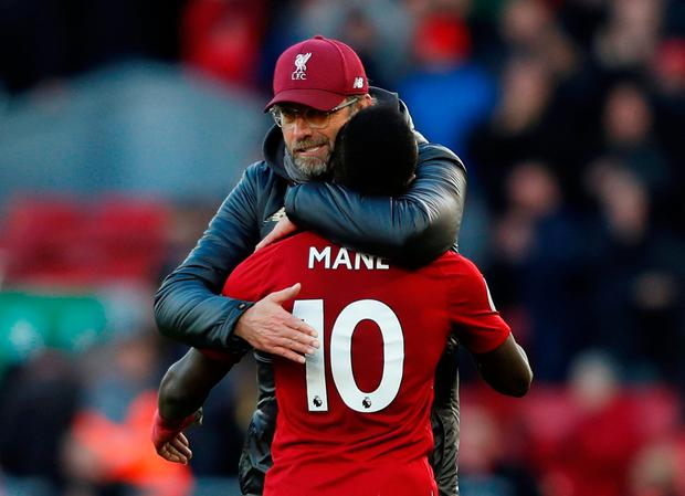 'Mane has become so important that Klopp is reluctant to leave him out and let him have a rest.' Photo: Reuters