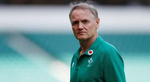 Ireland head coach Joe Schmidt during the warm-up before the match against England. Action Images via Reuters/Matthew Childs