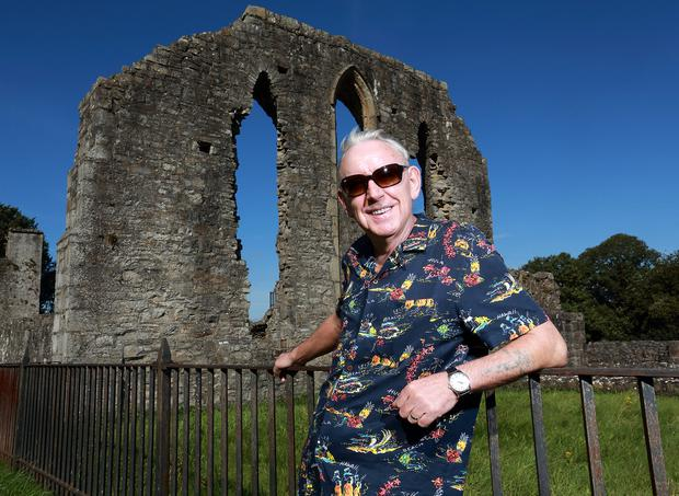 Celtic bluesman: Don Baker at the Priory of St John the Baptist near his home in Trim, Co Meath. Photo: Frank McGrath