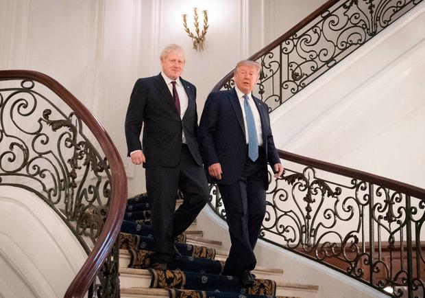 Prime Minister Boris Johnson meeting US President Donald Trump for bilateral talks during the G7 summit in Biarritz, France.Stefan Rousseau/PA Wire