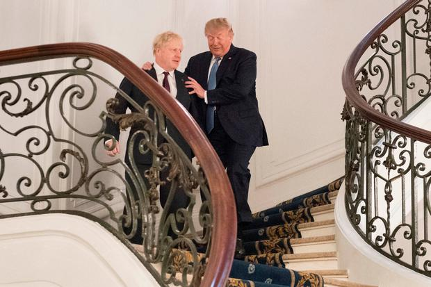 Prime Minister Boris Johnson meeting US President Donald Trump for bilateral talks during the G7 summit in Biarritz, France. Stefan Rousseau/PA Wire