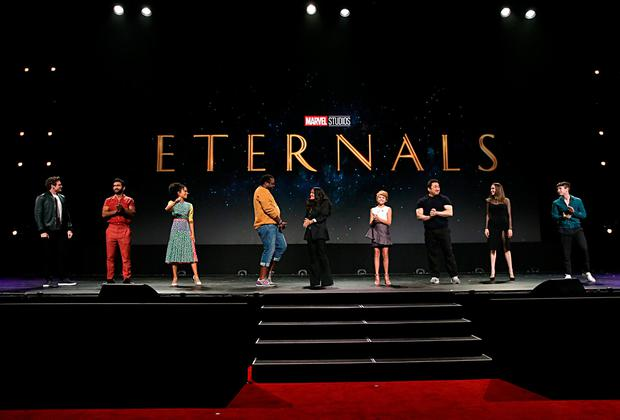D23: First Look at Eternals Costumes, Plus Kit Harington & More Join Cast!