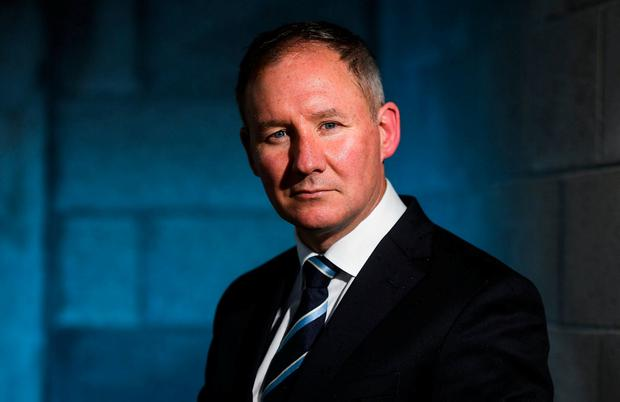 Manager Jim Gavin poses for a portrait following a Dublin Football All-Ireland Final Press Conference at Parnell Park. Photo: David Fitzgerald/Sportsfile