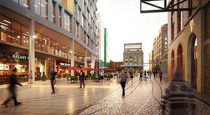 Concept: Renderings of how the new city quarter might look by architectural design firm RKD