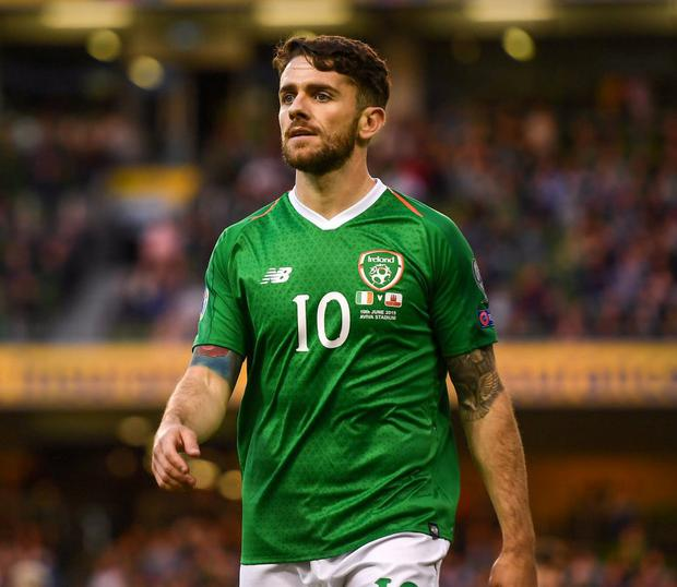 Robbie Brady was not in Burnley's squad for their draw with Wolves. Photo: Harry Murphy/Sportsfile