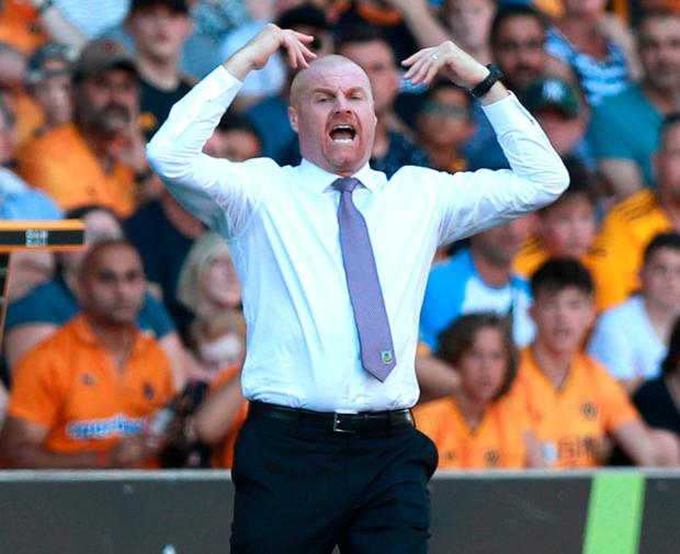 "Miffed: Sean Dyche is a ""big believer in VAR"", but wasn't convinced by the penalty awarded against his team. Photo: David Rogers/Getty Images"