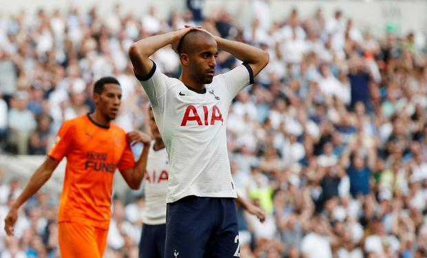 Tottenham Hotspur's Lucas Moura reacts. Photo: John Sibley/Action Images via Reuters