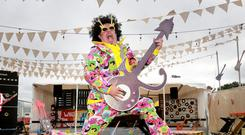 Mark Maguire from Risky Business pictured at the 'Who Let The Dads Out ' stage ahead of Electric Picnic in Stradbally Co Laois this weekend. Picture: Frank McGrath
