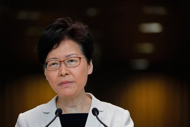 Carrie Lam said it is unacceptable that the state gives in to demands. AP Photo/Vincent Yu
