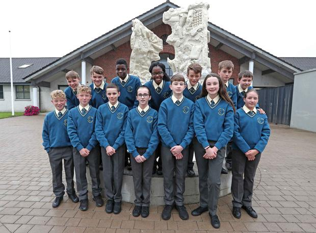 Pictured are twins, (front row) Jack and Callum O'Connor, Adam and Sarah Hayes, Ethan and Heather Bowman, Oliwia Przychodzka (back row) Peter and Sean O'Brien, Japhetth and Joanna Kolawole, Zach and Howard O'Connor and Oskar Przychodzki, at Glanmire Community College, Brooklodge, Glanmire, Co. Cork. Picture: Jim Coughlan.