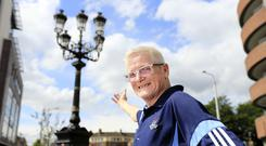 Dublin fan Wally Jackson pictured at the Five Lamps on The North Strand ahead of the All-Ireland. Picture; Gerry Mooney