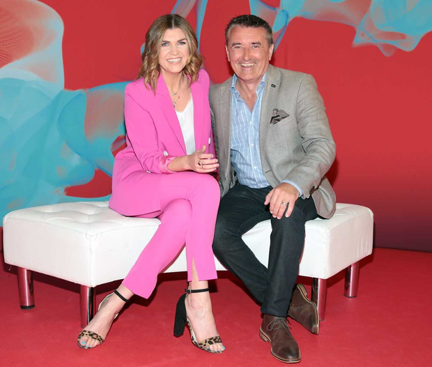 The Six O'Clock Show presenters Muireann O'Connell and Martin King at the Virgin Media Television autumn launch 2019. PIC: Brian McEvoy