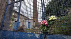 Approval: The locked-up site of the Magdalene laundry in Donnybrook which features an iconic chimney. Photo: Tony Gavin