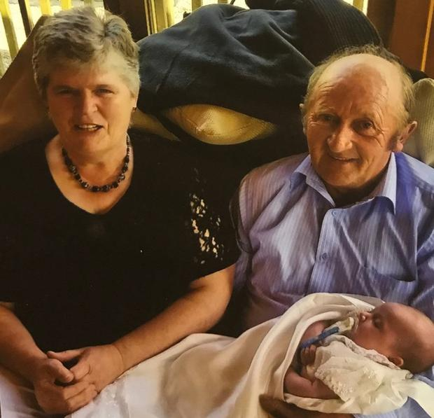 Mary and Tom Forbes with the youngest of their two granddaughters