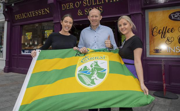 Cliodhna Hayes, Alan O'Sullivan and Rachel Lynch are all set to see Kerry take on Dublin. Picture: Domnick Walsh
